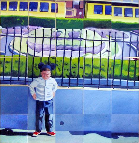 """30""""x 30"""" oil on canvas tiles"""