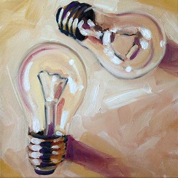 "8"" x 8"" oil on canvas"