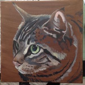 "12"" x 12"" oil on canvas"
