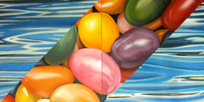 "24""x 48"" oil on canvas diptych"