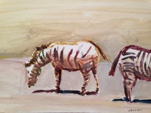 "8"" x 10"" acrylic sketch on canvas"