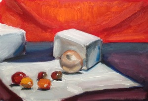 """10"""" x 7"""" oil on canvas sheet"""