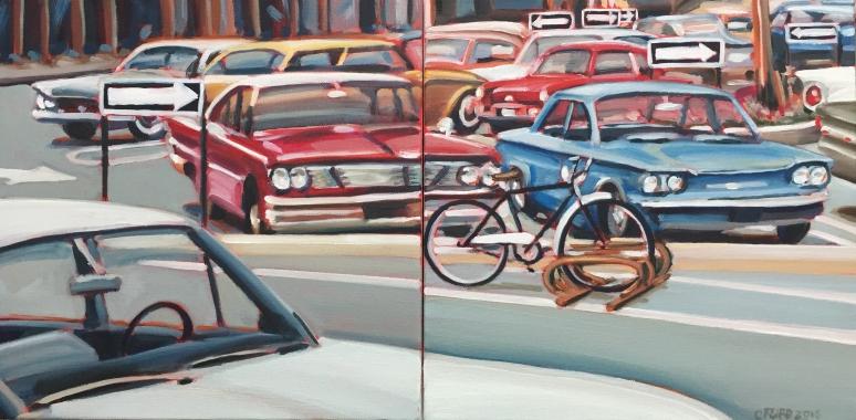 "12"" X 24"" oil on canvas diptych"